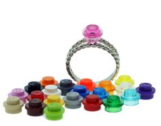 Building Block Ring  Brick Jewelry  Interchangeable by UBrickIt, $49.00