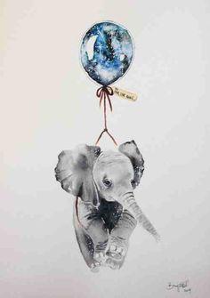 Image via We Heart It https://weheartit.com/entry/164404312 #animal #balloon #beauty #dreams #fly #ellephant