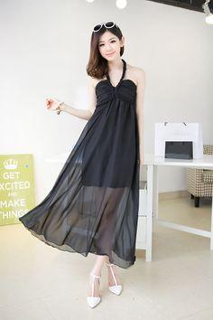 2014 Elegant Twist Halter Dress (with Chest Pad) Black  Item number:RF14042903-1 Wholesale price:US$ 13.24