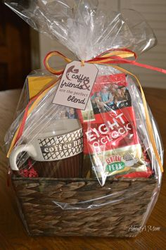 Dollar tree hostess gift idea lovers teas and coffee coffee and friends are the perfect blend coffee gift basketscoffee negle Gallery