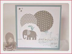 Stampin' Up! - Taufkarte - Zoo Babies - Off the Grid - Eins für alles - www.rosamaedchen.blogspot.de