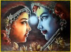 RADHA KRISHNA by VISHNU108.deviantart.com on @deviantART
