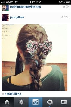 BOWSSSSS my favorite thing lik.... EVER! They jst add tht last little cute and feminine touch to ur outfit. Jst lik Arian Grande you can do a half up half diwn do and add a bow, a fishtail, french braid, or jst a simple pony tail. All these ways r super adorable with bows!! U can even DIY with bows❤ every girl should hav a bow