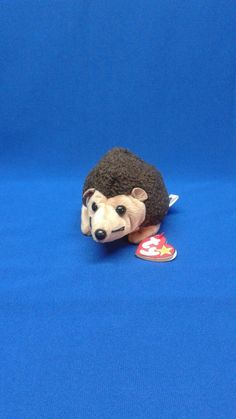 PRICKLES HEDGEHOG Ty original Beanie Baby plush toy animal light brown dark  brown black rare retired collectible great gift idea 937cb04004a0