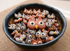 Royal Icing Owl Decorations #cute #food #owl