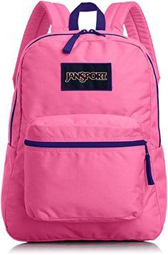 JanSport Overexposed Backpack - Black/Flourescent Pink