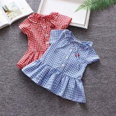 Summer Baby, Spring Summer, Cotton Dresses, Designer Dresses, Kids Fashion, Peplum, Rompers, Children, Tops