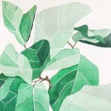 Tropical Banana Leaves Watercolor Print
