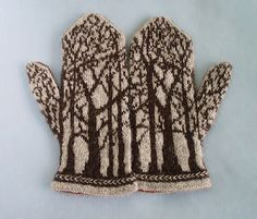 deep in the forest mittens | Ravelry http://www.ravelry.com/patterns/library/deep-in-the-forest-mittens [knit mittens colorwork]
