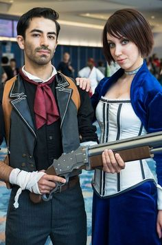 Booker Dewitt and Elizabeth <3 i really really want to do this one for Halloween