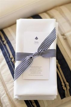 love this idea ~ grosgrain ribbon as a napkin ring ~ anyone can do this and it can be any color ~ so simple and effective!
