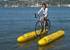Shuttle-Bike - велосипед, способный ходить по воде 3