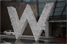 Entrance and fountain - beautiful W sign - W Hotel Singapore - Sentosa Cove - Starwood SPG Hotel, Asia