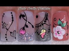 3 modelos de decoración de uñas/diseños de uñas variados y bonitos/tutoriales de decoración de uñas - YouTube Halloween Nail Designs, Halloween Nails, Special Nails, Nail Manicure, Fun Nails, Artsy, Nail Art, Diy Projects, Ganesha