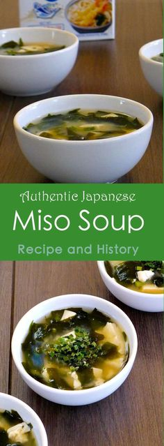 Japan: Miso Soup Miso Soup is made with miso, a traditional food in Japan and China that can be found in the form of a very strong-flavored salty umami paste. Japanese Miso Soup, Japanese Diet, Japanese Meals, Traditional Japanese Food, Healthy Japanese Recipes, Umami Paste, Soup Recipes, Vegetarian Recipes, Cooking Recipes