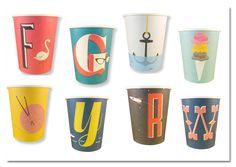 A-Z #Typographic #party #cups by #Magpie