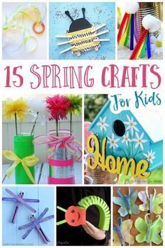 Spring brings such wonderful inspiration for crafts. So we've gathered 15 fun spring kids crafts for you to enjoy with your family. Craft Projects For Kids, Crafts For Kids To Make, Craft Activities For Kids, Kids Crafts, Bonding Activities, Craft Ideas, Kids Diy, Educational Activities, Family Activities