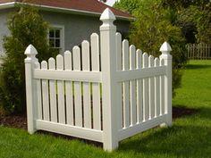 Vinyl Corner Picket Fence