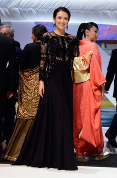 Zhang Ziyi in Elie Saab at'Zulu' Cannes Film Festival Premiere and Closing Ceremony.
