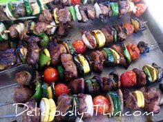 Beef Kabob Recipe ¦ Not super concerned about low carbs or weight loss, but these are naturally so. Double score!