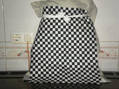 Items similar to Junior Chefs half apron, Black & White chequered flag Formula One. on Etsy Chef Apron, Checkered Flag, Apron Designs, Formula One, Aprons, Chefs, Black And White, Trending Outfits, Vintage