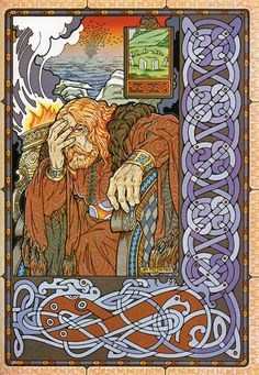 EOCHAI KING OF THE FIR BOLG   from The Book of Conquests written and illustrated by Jim Fitzpatrick