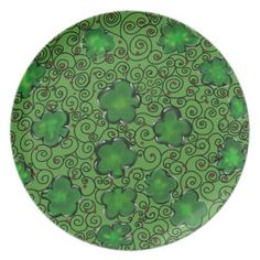 #St. Patty Art Design Melamine Plate - #birthday #gifts #giftideas #present #party