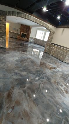 Garage Flooring Ideas For Men - paint, tiles and epoxy coatings . - Garage Flooring Ideas For Men – paint, tiles and epoxy coatings … – Floor 3 – - Painted Concrete Floors, Concrete Houses, Painting Concrete, Epoxy Concrete Floor, Metallic Epoxy Floor, Finished Concrete Floors, Plywood Floors, Laminate Flooring, Concrete Lamp