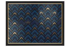 This richly colored geometric work is presented in a black and gold frame and includes the artist's signature on the front. Painting Carpet, Painting Wallpaper, Love Painting, Hanging Pictures, Art Pictures, Tile Patterns, Pattern Art, Painted Rug, Mosaic Designs