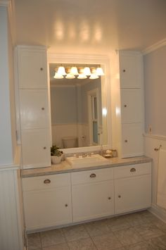 Bathroom Vanities With Linen Towers On End Vanity And