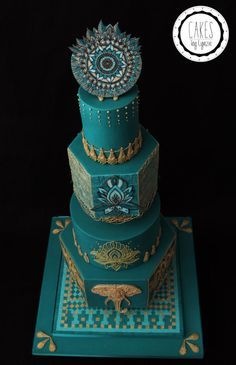 Indian Wedding Cake by Cakes by Lynzie