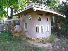 Cob playhouse by Silja Weber.   Article by Carrol Krause
