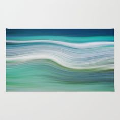 OCEAN ABSTRACT Area & Throw Rug by Catspaws - $28.00