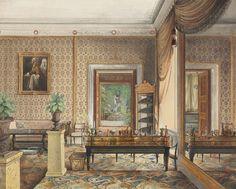 eduard gartner arbeitszimmer von prinz karl von preussen 1848 stadtische architektur biedermeier mobel