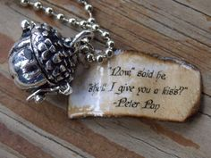 Once Upon A Time Peter Pan Kiss Necklace by shellybelly4evr -- $12