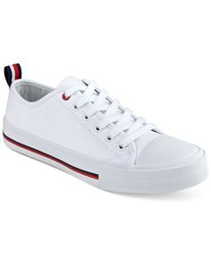 Tommy Hilfiger's Tayla sneakers are the lace-up-and-go look you'll reach for with sporty skirts, jeans and everything in-between. | Fabric upper; manmade sole | Imported | Round-toe lace-up sneakers |