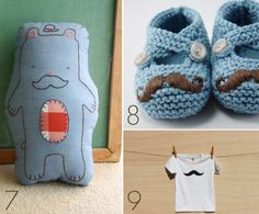 Cute mustache merchandise