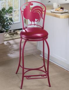 rooster bar stool ... love-- I love red