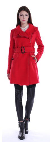 LANHUACAO Woolen Coat with Belt Milit... $69.99 #bestseller