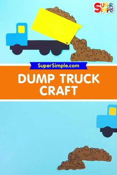 Make a super cool dump truck craft and learn about construction trucks!