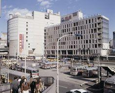 渋谷駅前、東急付近(東京都渋谷区)   撮影日:1988年01月
