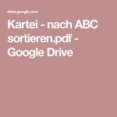 Kartei - nach ABC sortieren.pdf - Google Drive