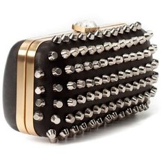 STUDDED EVENING BOX BAG - Handbags - Woman