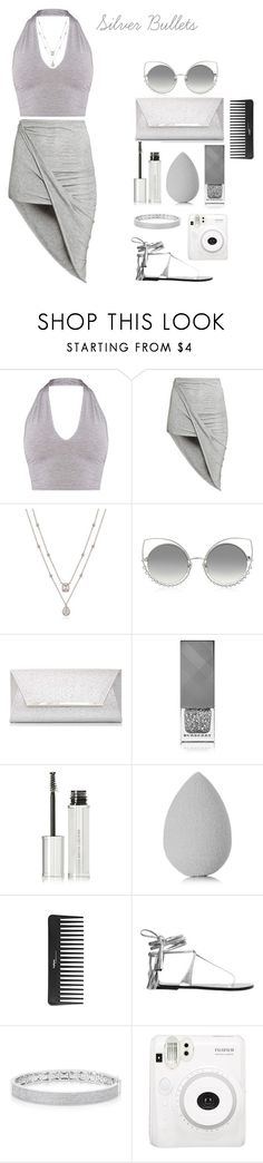 """Silver Bullets"" by amber-mistry ❤ liked on Polyvore featuring H&M, Marc Jacobs, Dorothy Perkins, Burberry, Givenchy, beautyblender, Sephora Collection, Isabel Marant, Anne Sisteron and Fuji"