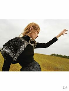 "Duchess Dior: ""Field of Dreams"" Steffi Soede for ELLE UK December 2015"