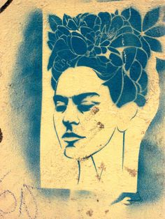 Frida Kahlo pictures and art | Frida Kahlo. Stencil wall art