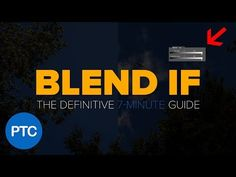 """In this Photoshop tutorial, you will learn how to use """"Blend If"""" like a pro. With the techniques that you will learn in this tutorial, you will be able to make fast and easy sky replacements, apply textures to text, create cool special effects, and much more."""
