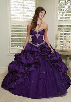 Purple Taffeta Ball Gown Gothic Corset Wedding Dress by DevilNight Sweet 16 Dresses, 15 Dresses, Pretty Dresses, Formal Dresses, Purple Quinceanera Dresses, Purple Wedding Dresses, Quinceanera Party, Pagent Dresses, Quince Dresses