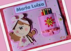 Caderno de desenho decorado em eva.  Acompanha lápis de cor.  Diversas cores e modelos. Frete sob consulta R$ 15,00