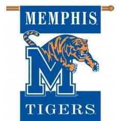 """Memphis Tigers Two-Sided 28""""x40"""" Banner with Pole Sleeve"""
